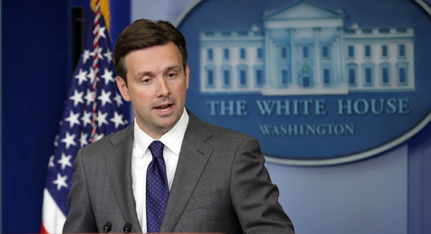 WASHINGTON, DC - AUGUST 29:  White House Principal Deputy Press Secretary Josh Earnest answers questions during the daily media briefing in the Brady Press Briefing Room at the White House August 29, 2013 in Washington, DC. Earnest fielded questions from reporters about the Obama Administration's stance and response to the alleged use of chemical weapons in Syria.  (Photo by Chip Somodevilla/Getty Images)