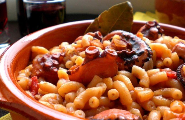 Octopus with Pasta