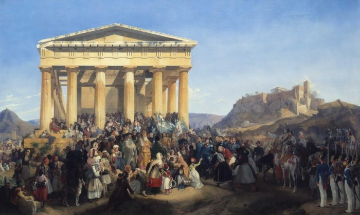 """""""The Entry of King Otto in Athens"""" by Peter von Hess, 1839"""