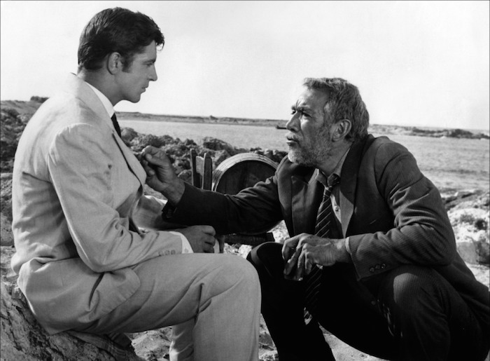 Alan Bates and Anthony Quinn in Zorba, The Greek directed by Michael Cacoyannis, 1964