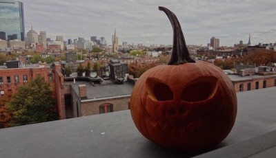 The festive Halloween activity of carving pumpkins