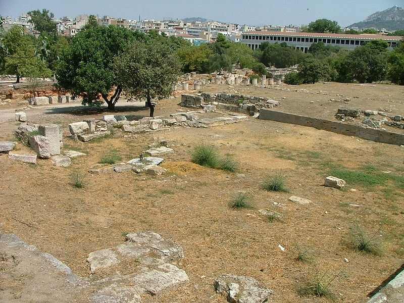 Precinct of the ruins of Heliea, the supreme court ofancient Athens.