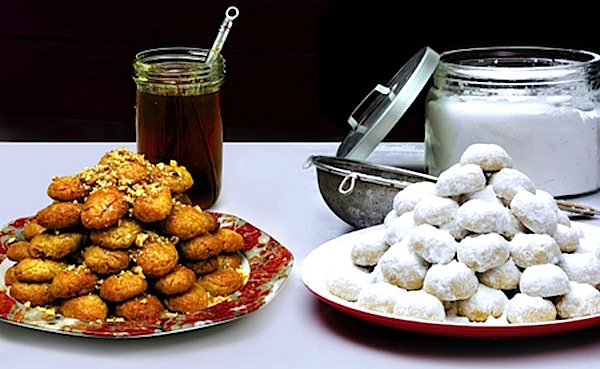 Two Original Recipes For The Best Kourabiedes And Melomakarona