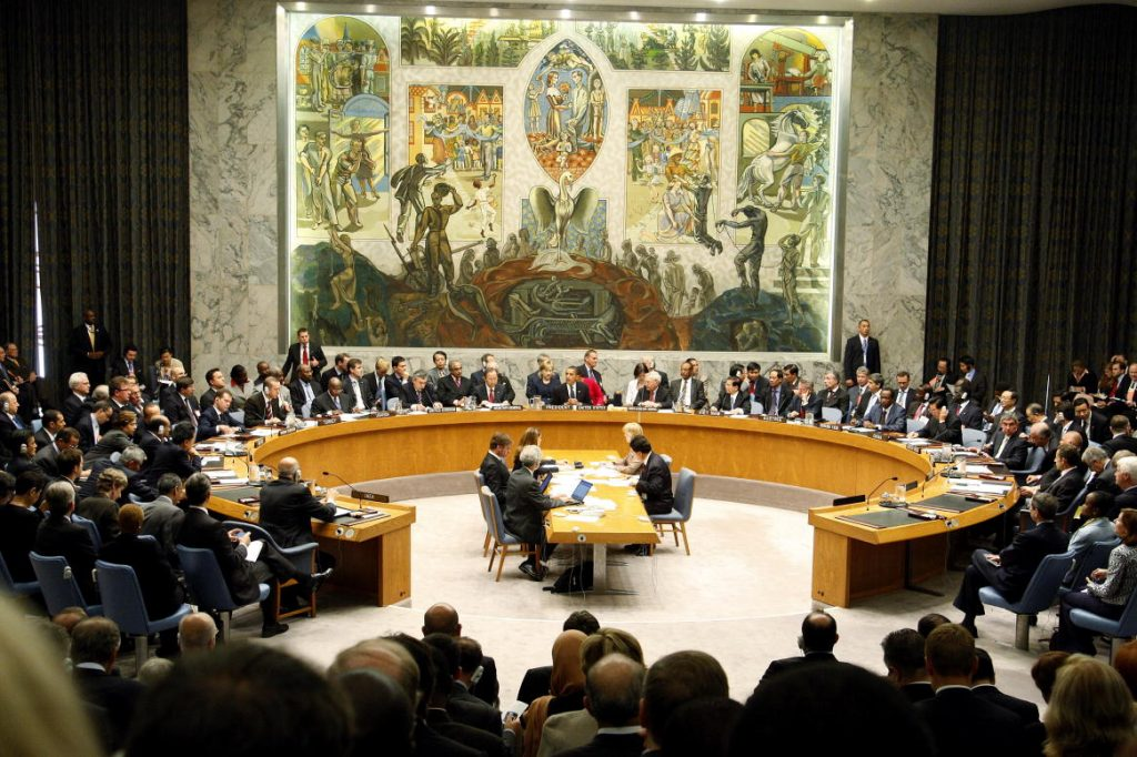 Wide view of the Security Council Summit on nuclear non-proliferation and disarmament, which was chaired by United States President Barack Obama and unanimously adopted resolution 1887 (2009), expressing the Council's resolve to create the conditions for a world without nuclear weapons. 24/Sep/2009. United Nations, New York. UN Photo/Mark Garten. www.un.org/av/photo/
