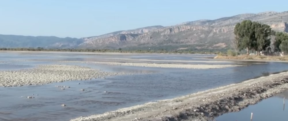 Salt flats Messolonghi Greece