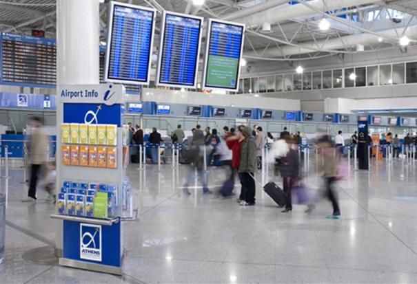 Athens international airport passengers