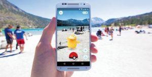 pokemon go at beach