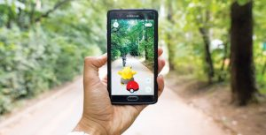 pokemon go on forest trail