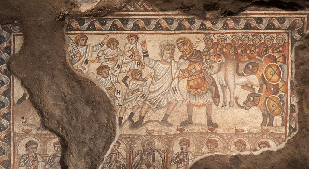 alexander the great mosaic israel