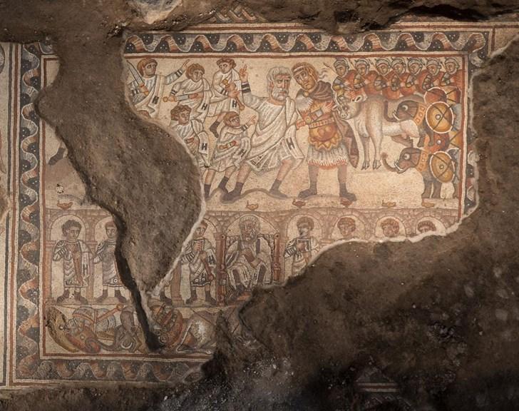 alexander the great mosaic israel full