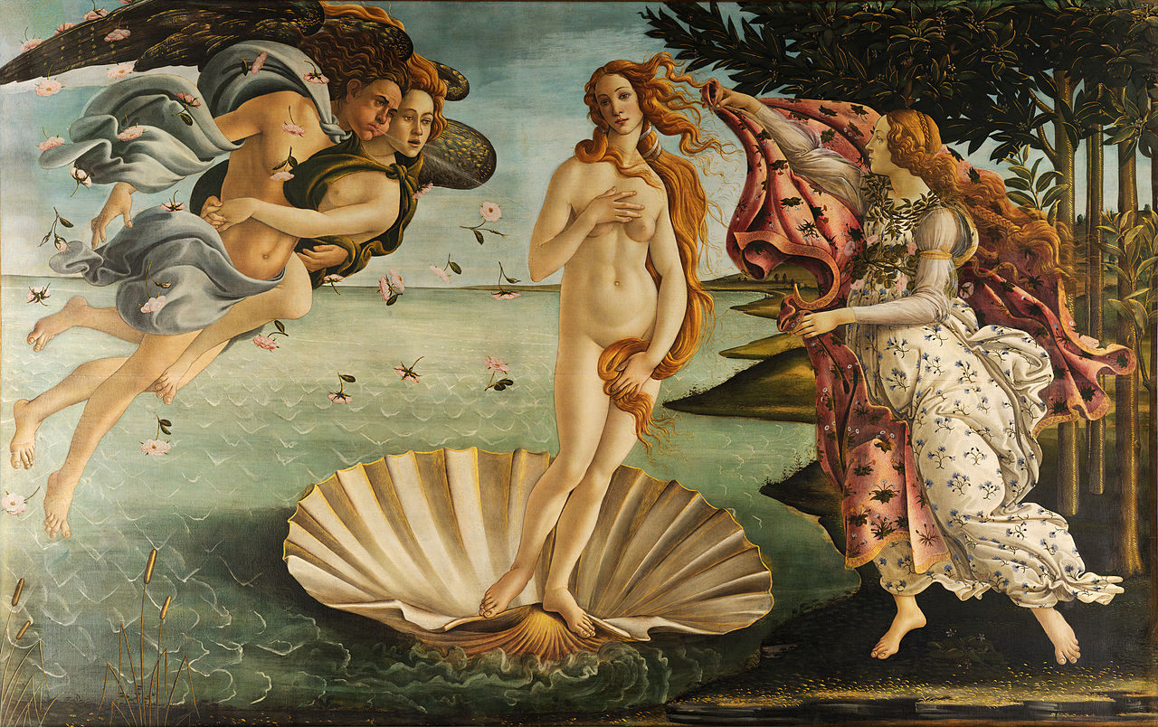 The Birth of Aphrodite-Venus, the Ancient Greek goddess of beauty, sensuality and love.