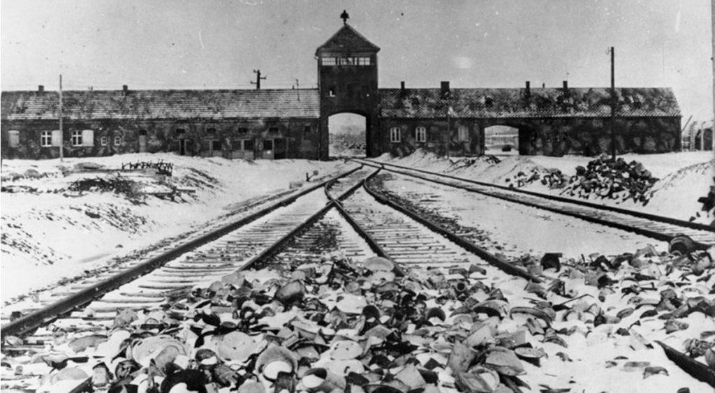 Auschwitz Gate Black and White
