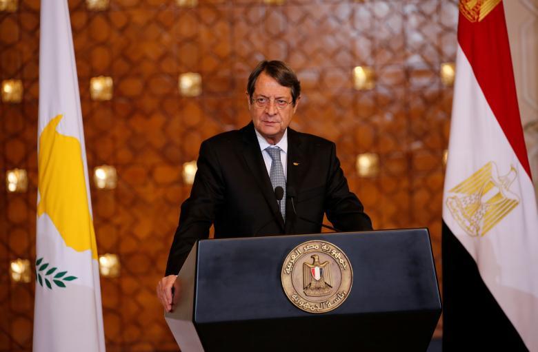 Cyprus' President Nicos Anastasiades speaks