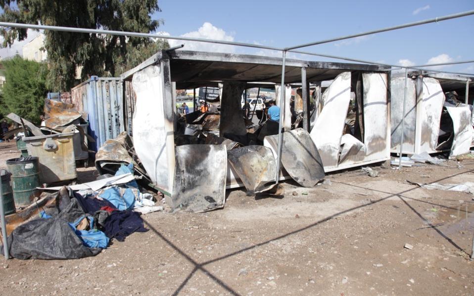 chios migrant center attacks souda
