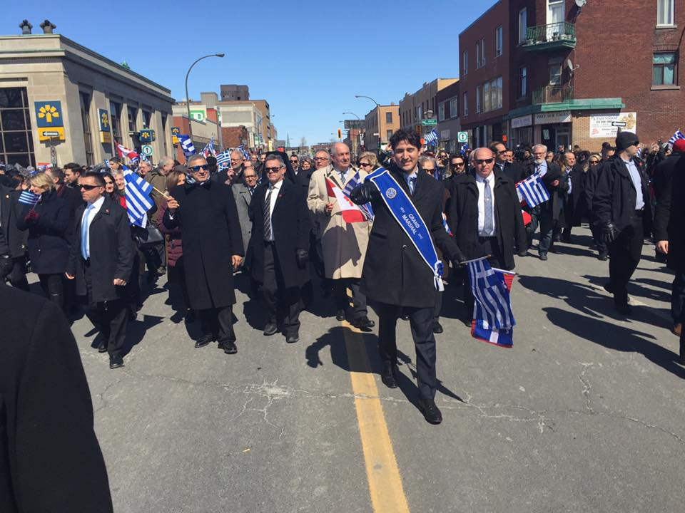 Justin Trudeau at the 2017 Greek Parade in Montreal