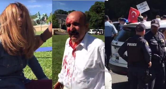 Turkish attack on protestors