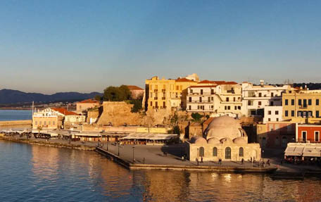 Traditional sights of Chania. Old Port and Mosque of the Janissaries, Chania (photo by Gabi Ancarola).