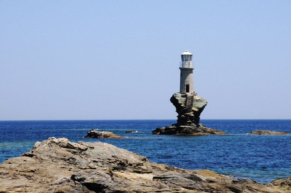 Andros lighthouse Greece