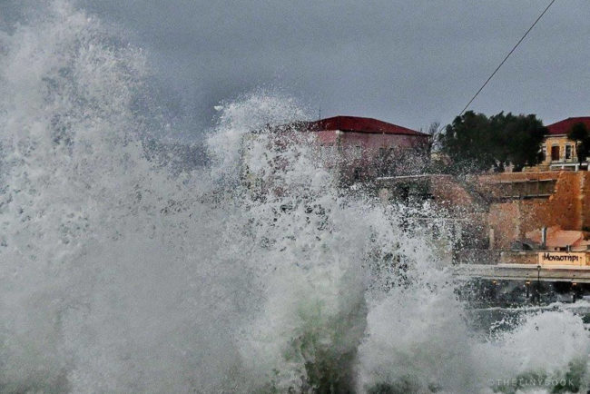 Extreme weather conditions in Chania, Crete