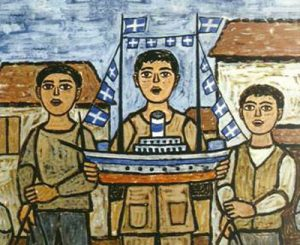 Boats are part of the Christmas tradition in Greece