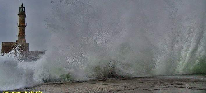Extreme weather conditions in Chania