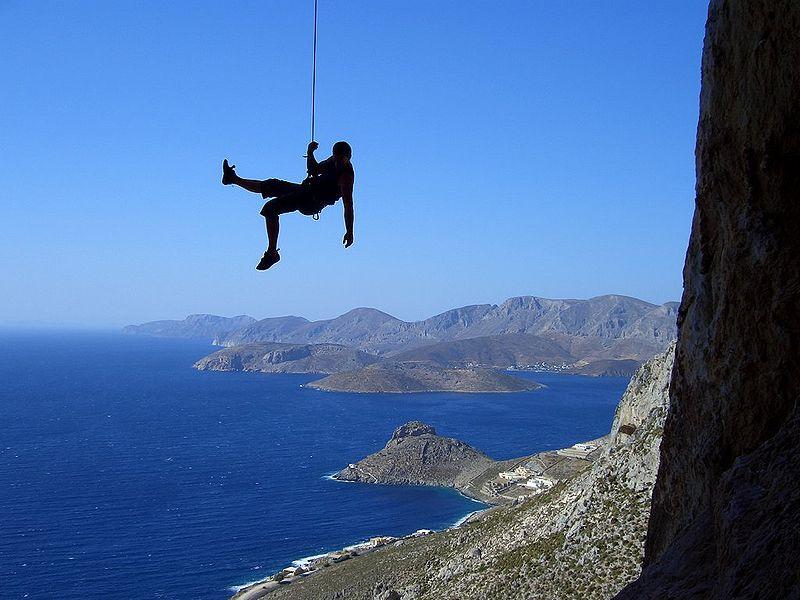 Climber in Kalymnos Island