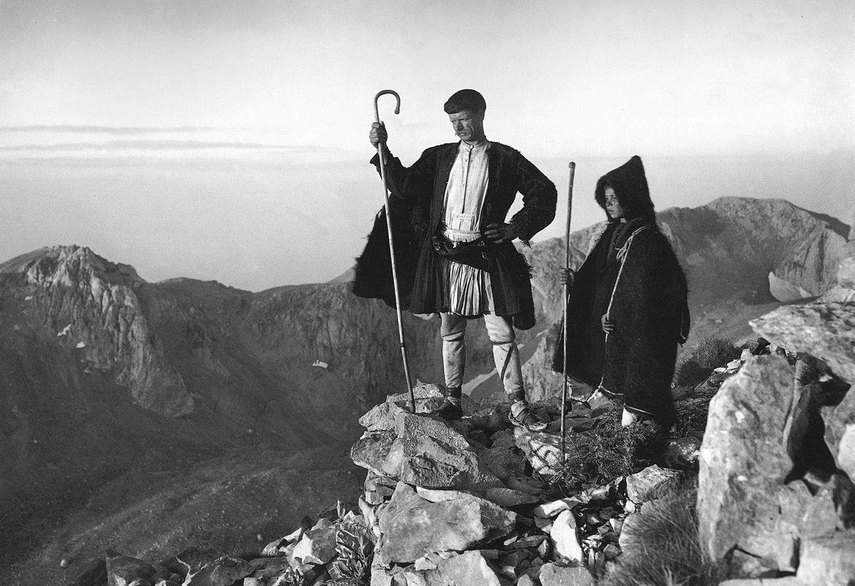 Parnassos shepherds, Attica, 1903, Frédéric Boissonnas.