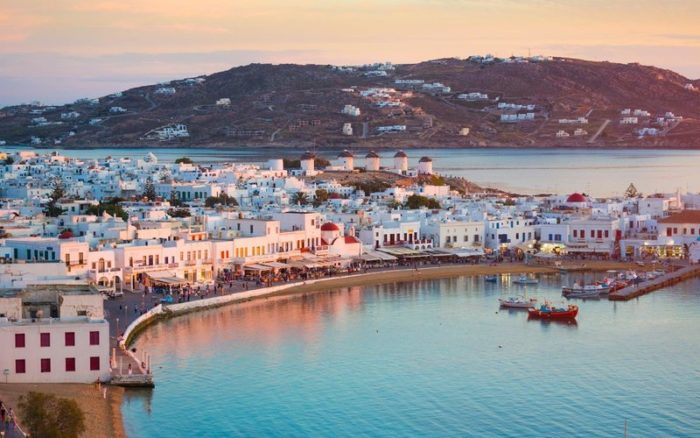 In Mykonos, the wind blows all year. This is why bushes are more abundant than trees, and this is also why its windmills have become the local landmark.