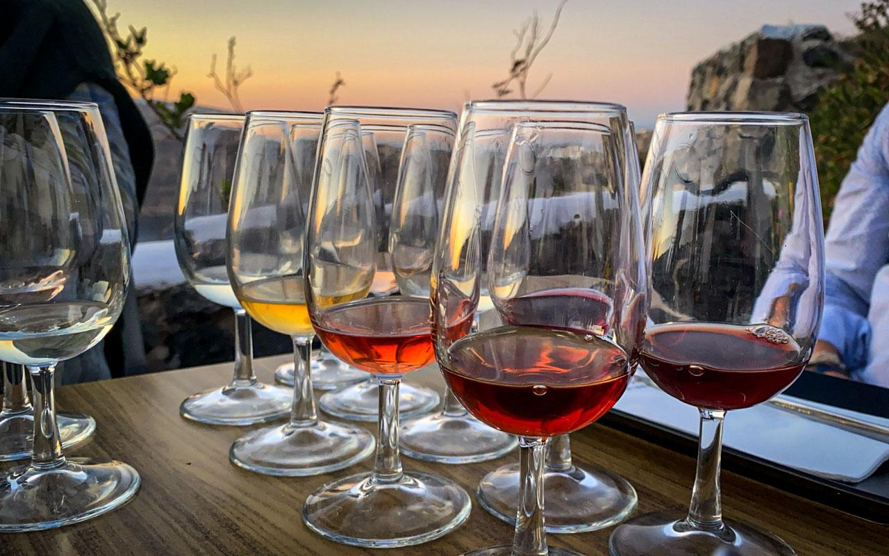 Greek wine tasting in Santorini