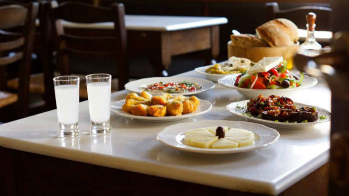 Lesvos table and food.