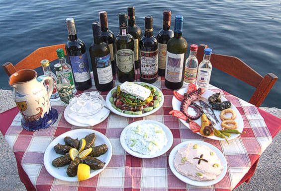 Lesvos selection of local dishes