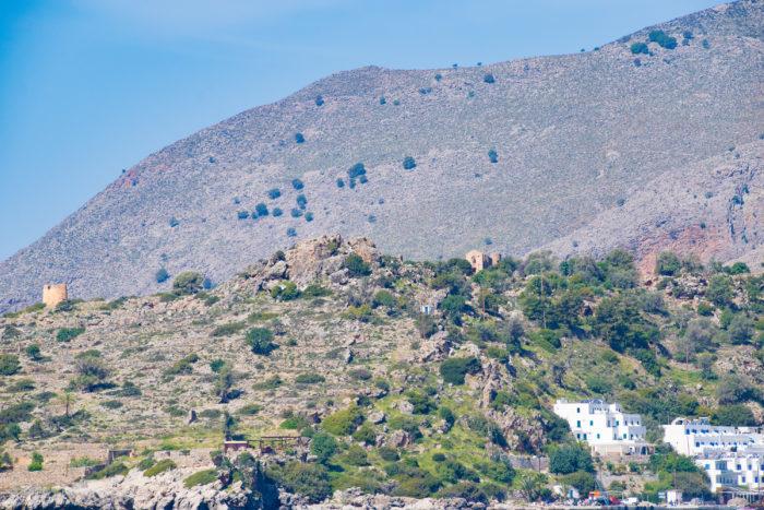 Ruins ancient city of Finikas (Loutro) Crete