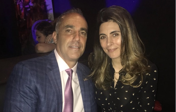 Jamie Lynn Sigler and Andrew Pollack