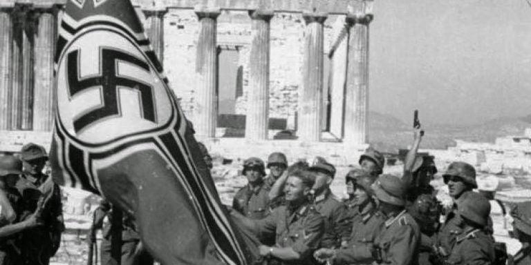 nazi flag Acropolis