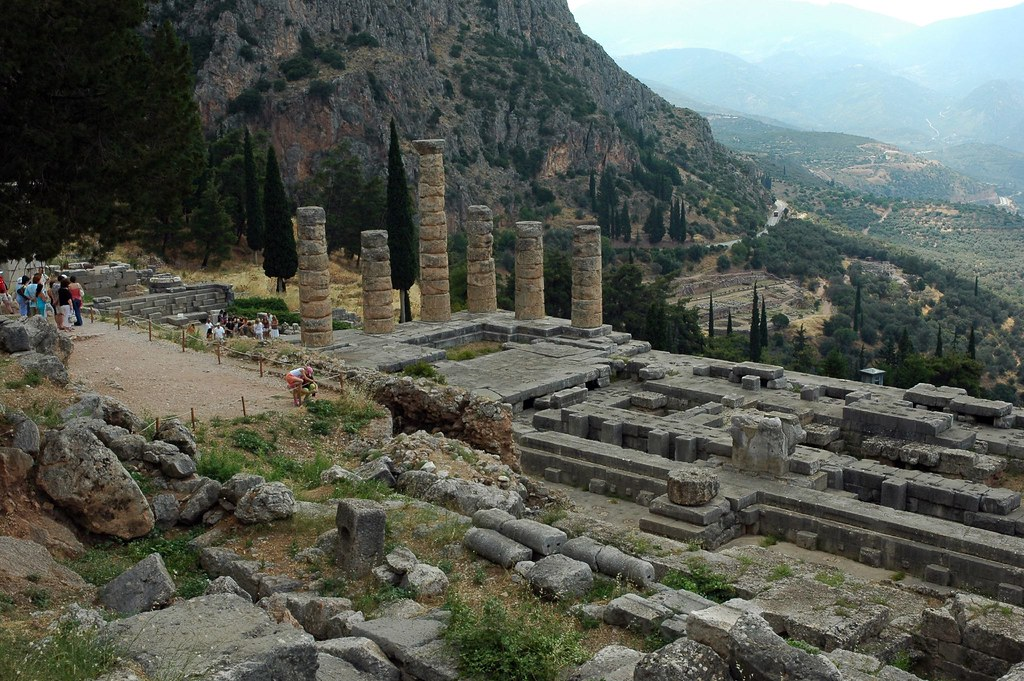 the archaeological site of Delphi, Greece.