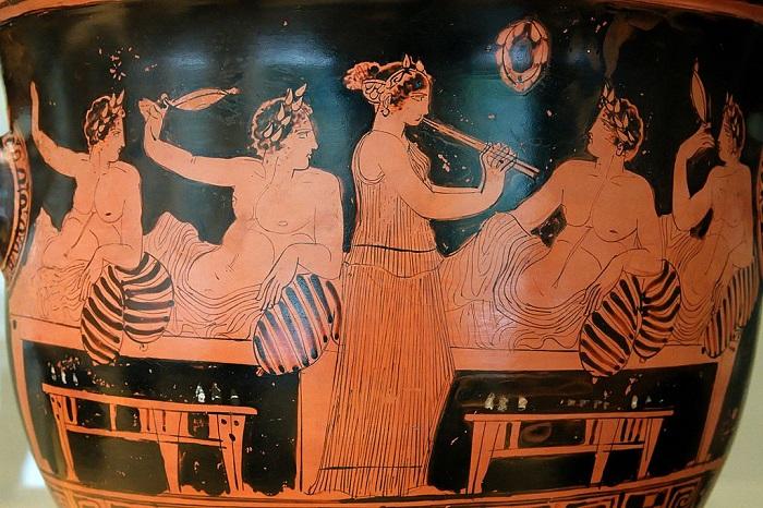 ancient greeks eat symposium