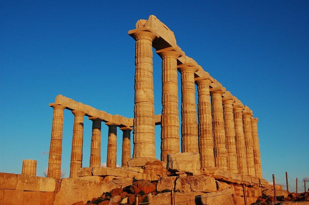 Ancient Greek Temple of Poseidon, Greece