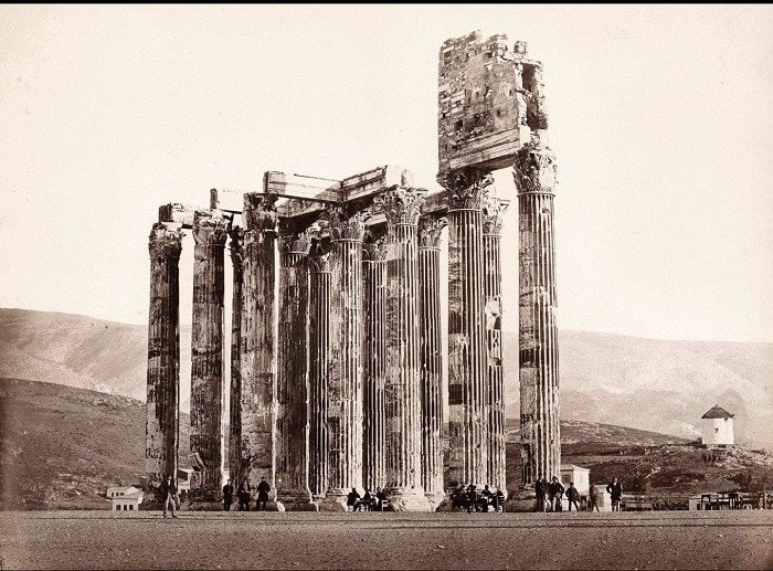 The Mystery Structure on Top of Athens Temple of Olympian Zeus