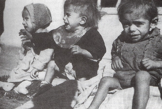 The local population (including children) suffered from massive starvation during the Nazi occupation of Greece. Credit: Public domain