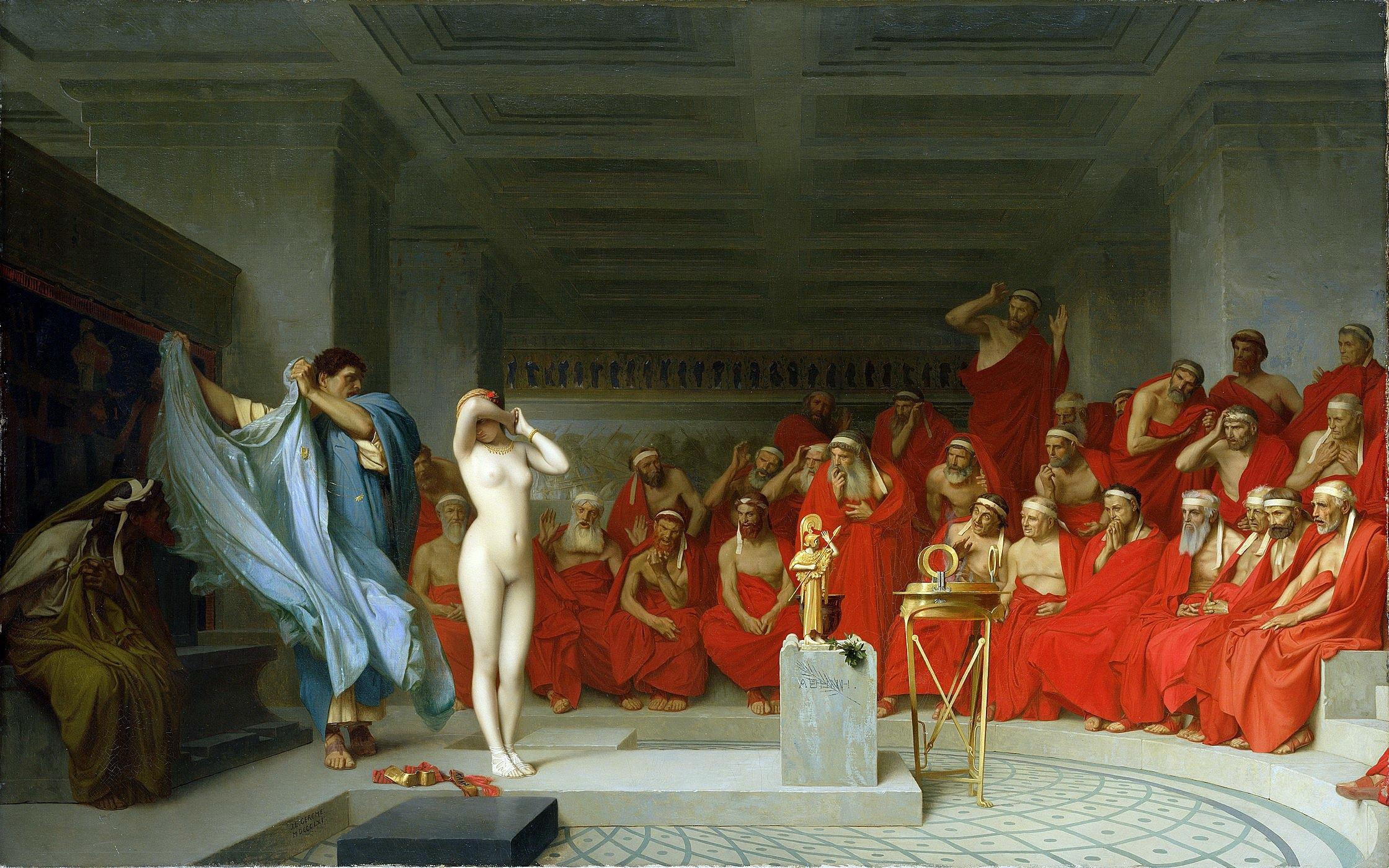 Phryne ancient greek courtesan