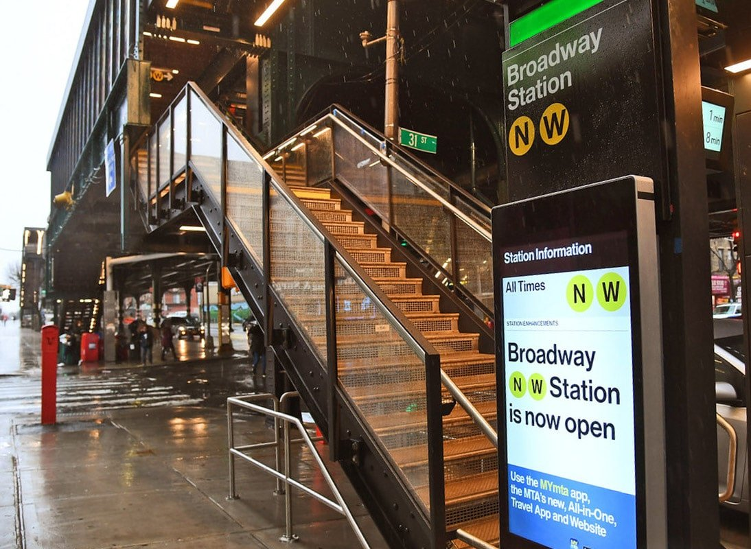Broadway station on the Astoria Line, Queens, New York