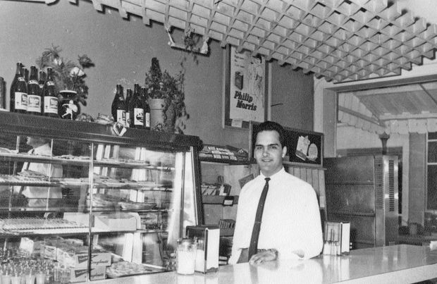 """Sotirios """"Sam"""" Panopoulos pictured at one of his restaurants in the late 1960s"""