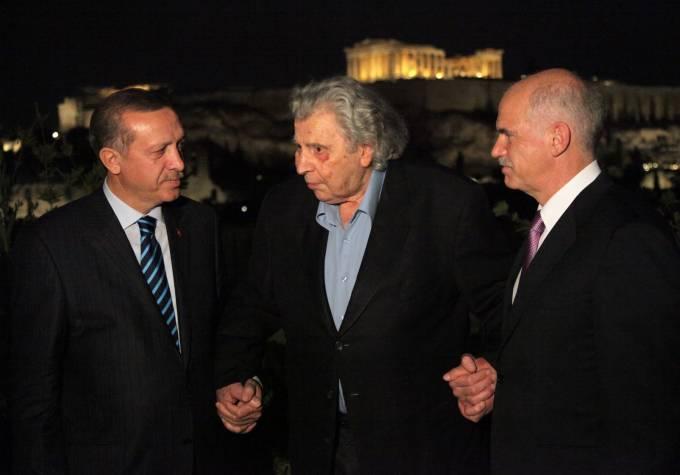 Erdogan, Theodorakis, Papandreou