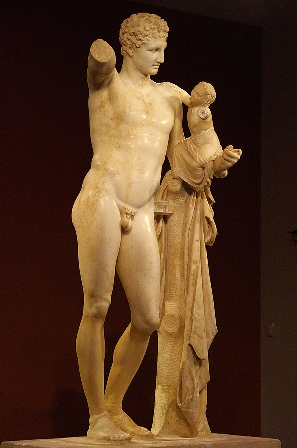 statue of Hermes and the Infant Dionysus