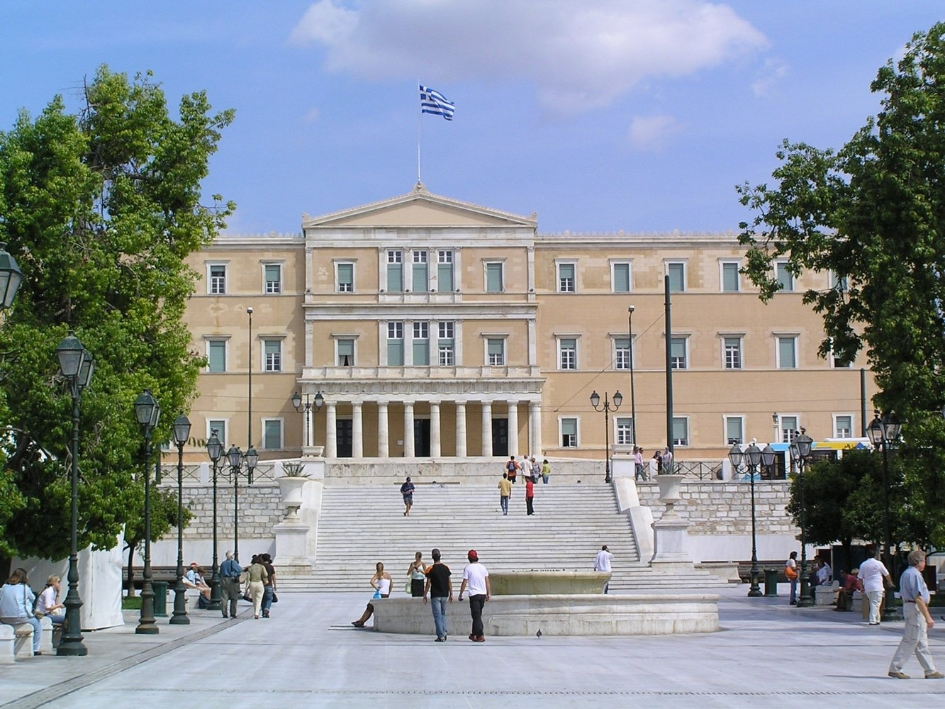Athens Syntagma square sightseeing