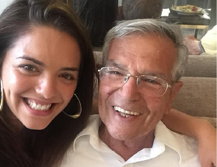 Olympia Valance and her late grandfather Dimitri Gogos