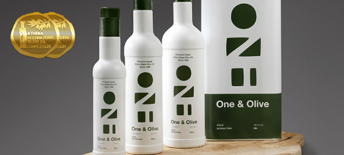 One & Olive olive oil, the top Greek winner at the Athena International Olive Oil Competition
