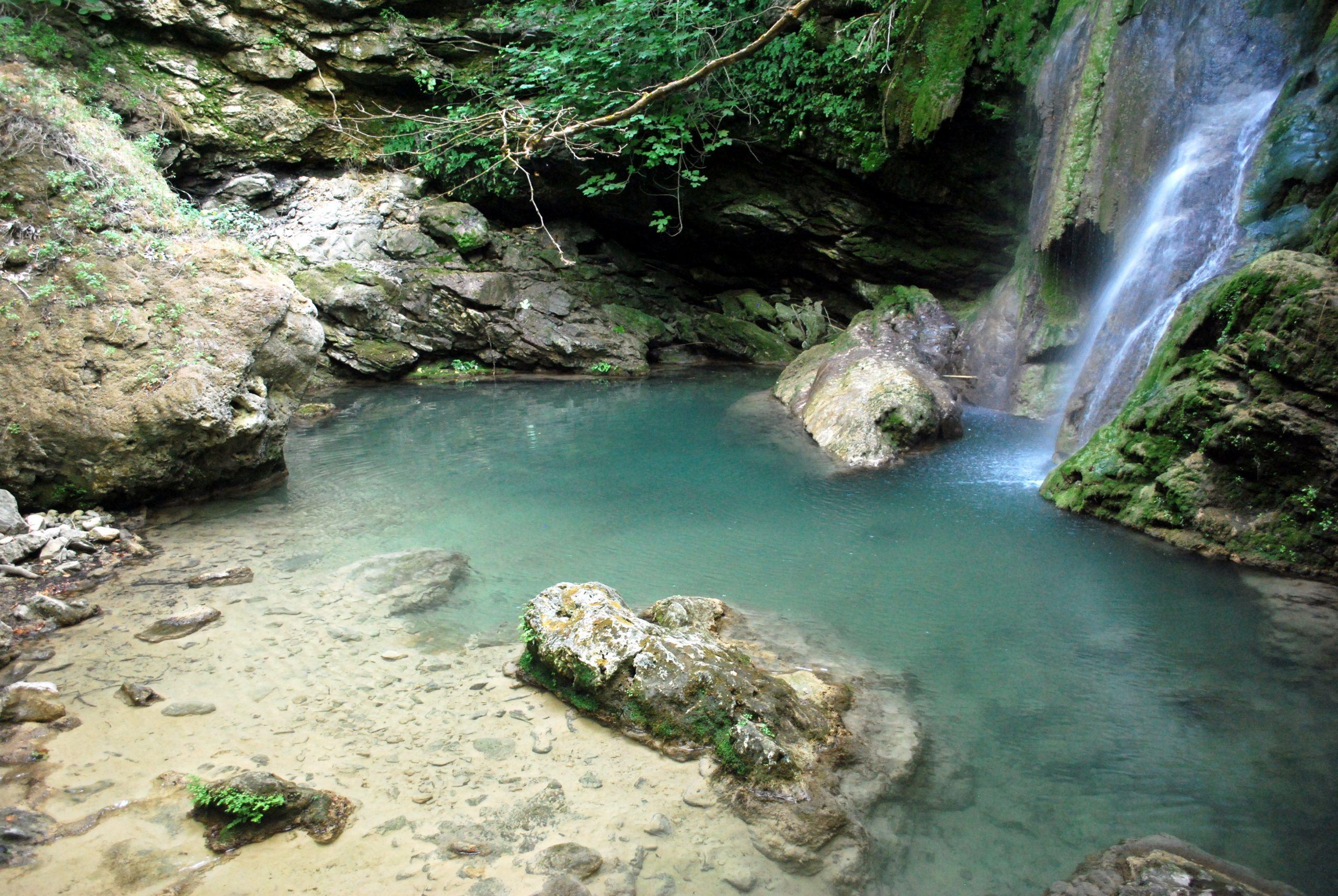 Waterfall in Greek island