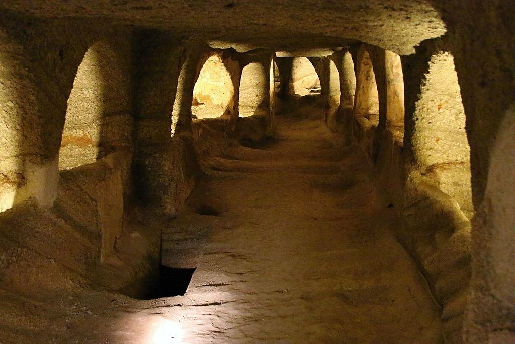 catacombs greek island
