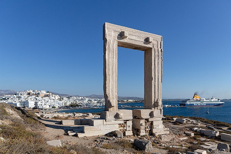 The Portara, the lintel of Lygdamis' Temple of Apollo at Naxos